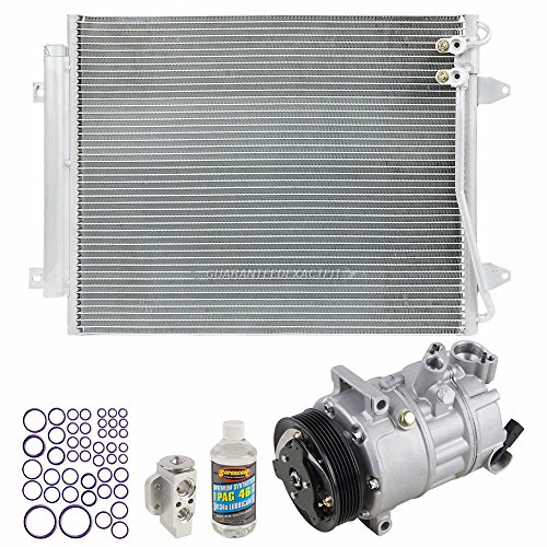 AC Compressor w/A/C Condenser & Repair Kit For Volkswagen Passat & CC - BuyAutoParts 60-82505R6 New ()