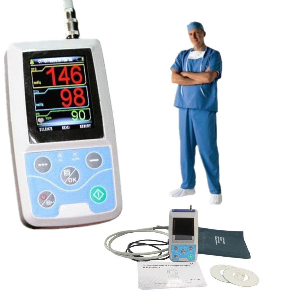 OUKANING Monitor de presión arterial ambulatoria con manija Datos de pulso ABPM Holter Registro de 24 horas con 3 manguitos: Amazon.es: Salud y cuidado ...