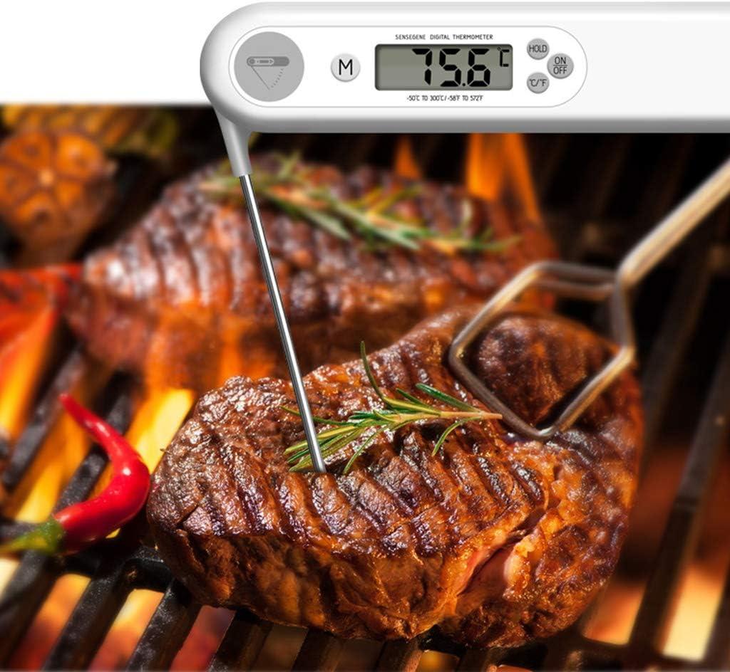 Youlin Thermomètre Alimentaire À Affichage Numérique,thermomètre Sonde pour Barbecue Four Fumeur Barbecue Grill Accessoires Blue