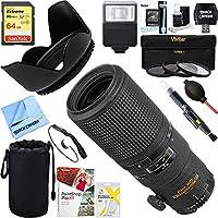 Nikon 1989 200mm F/4D AF Micro Nikkor Lens + 64GB Ultimate Filter & Flash Photography Bundle