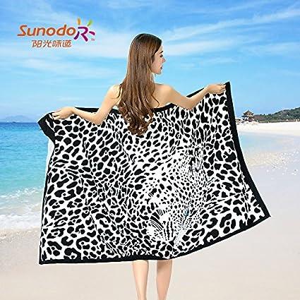 Upper-La piel de leopardo sexy toalla de baño personalizadas ampliada super absorbentes de algodón