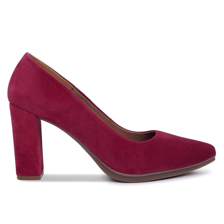 Zapatos Salón. Zapatos Piel Mujer Hechos EN ESPAÑA. Zapatos Tacón Granate. Zapato Mimao. Zapatos Mujer Tacón. Zapatos Mujer Fiesta y Baile Latino. Zapato Cómodo Mujer con Plantilla Confort Gel