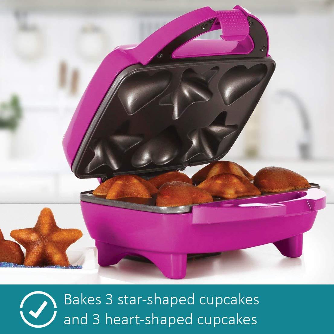 Holstein Housewares HF-09034M Star & Heart Cupcake Maker - Magenta by Holstein Housewares (Image #4)