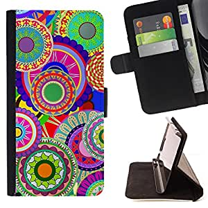 DEVIL CASE - FOR Apple Iphone 5C - Colorful Pattern Art Wallpaper Psychedelic - Style PU Leather Case Wallet Flip Stand Flap Closure Cover
