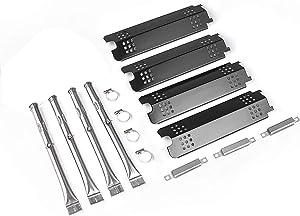 """Grill Parts Kit for Charbroil 463436215 461334813 463439914 463436214 463434413 463439915 463436213 463434313 463322613 463462114 463432114 G432-0096-W1 G432-Y700-w1 (15"""" L Heat Tent +14.4"""" L Burner)"""