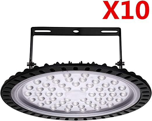 100W Slim UFO LED High Bay Light lamp Factory Warehouse Industrial Lighting Dust