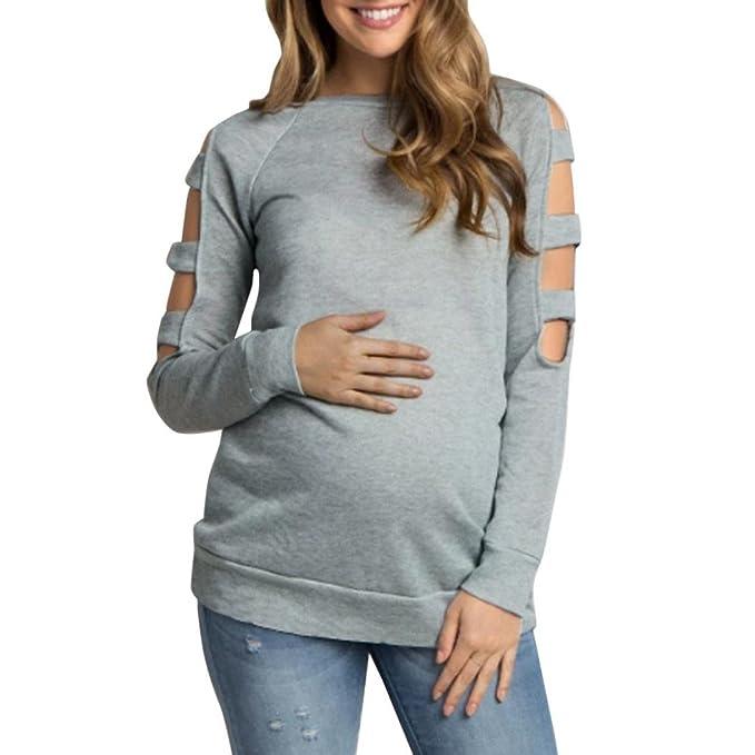 1fa64091a K-youth Embarazo T-Shirt Ropa Embarazada Mujer Camiseta Premamá T-Shirt  Blusa