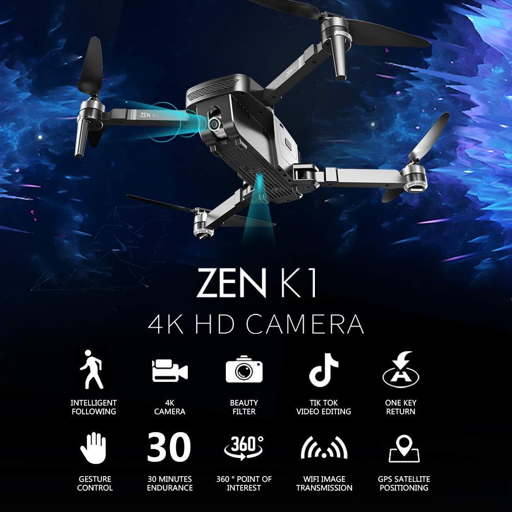 Goolsky VISUO Zen K1 Drone 4K GPS sin Escobillas con Cámara Dual ...