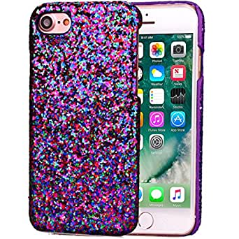 Gotd Luxury Glittering Slim Hard Back Case Cover For iPhone 7 4.7inch (Purple)
