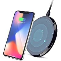 Ufanore Fast Wireless Charger, Qi Wireless 7.5W Fast Charging Pad Compatible for iPhone Xs/Xs Max/XR,iPhone X,iPhone 8 Plus/8, 10W Charges for Samsung Galaxy S9/S9 Plus,S8/S8 Plus,S7 S6 Edge+/Edge,Note 8 7 5,LG G3, Nexus 4/5/6/7 & All Other Qi-Certified Devices