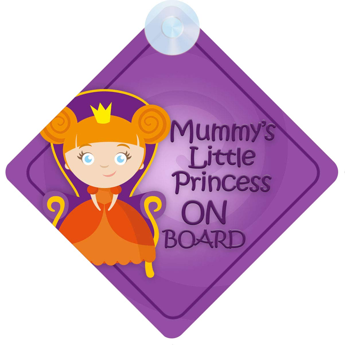 mybabyonboard UK Mummys Little Princess on Board Car Sign for Children//Baby Girls Non Personalised Character Theme MLP009