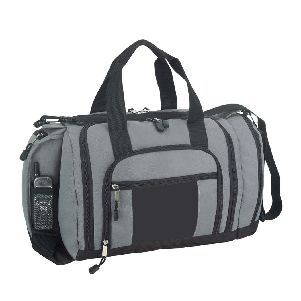 f7fb16d12e8a Amazon.com  DALIX Ultimate Pockets in Gray and Black Gym Bag  Sports    Outdoors