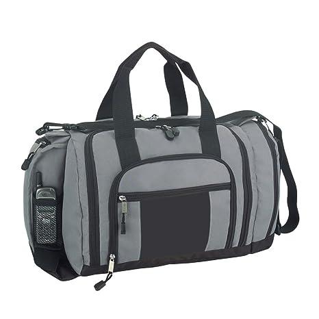 Amazon.com  DALIX Ultimate Pockets in Gray and Black Gym Bag  Sports ... e89cf440bacf3