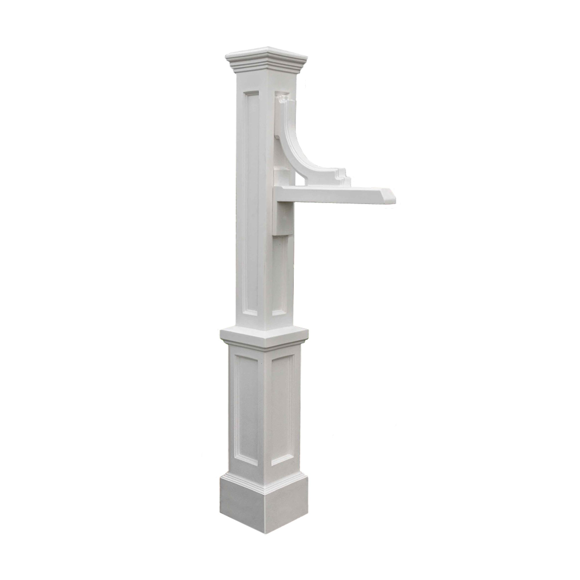 Mayne 5812-WH Woodhaven Address Sign Post, White