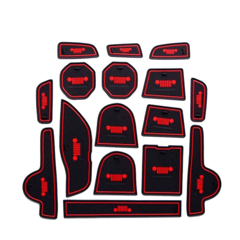 Floridivy For Jeep Renegade 2016 2017 Interior Decoration Non-slip Door Groove Cushions Anti-slip Door Slot Pad AMZSCoco4121