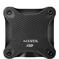 ADATA SD600 256GB USB 3.1 3D NAND Portable External Solid State Drive (ASD600-256GU31-CBK)
