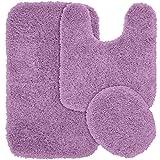 Kohls Bathroom Sets Garland Rug 3-Piece Jazz Shaggy Washable Nylon Bathroom Rug Set, Purple