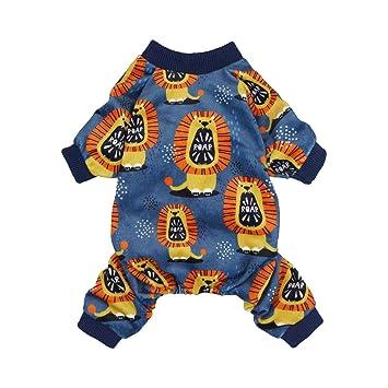 Amazon.com: Fitwarm Roar! Pijama de león para perro, ropa ...