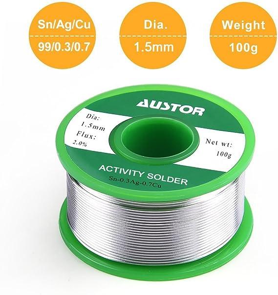 "0.059/""//1.5mm 100g 63//37 Rosin Core Flux 2.0/% Tin Lead Soldering Solder Wire"