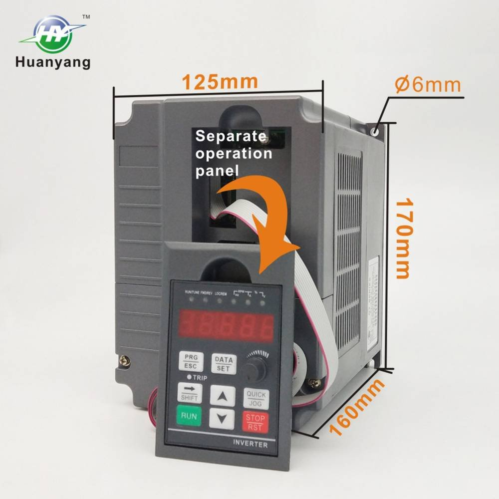 Vector Control CNC VFD Variable Frequency Drive Controller Inverter Converter 220V 2.2KW 3HP for Motor Speed Control HUANYANG GT-Series 220V, 2.2KW