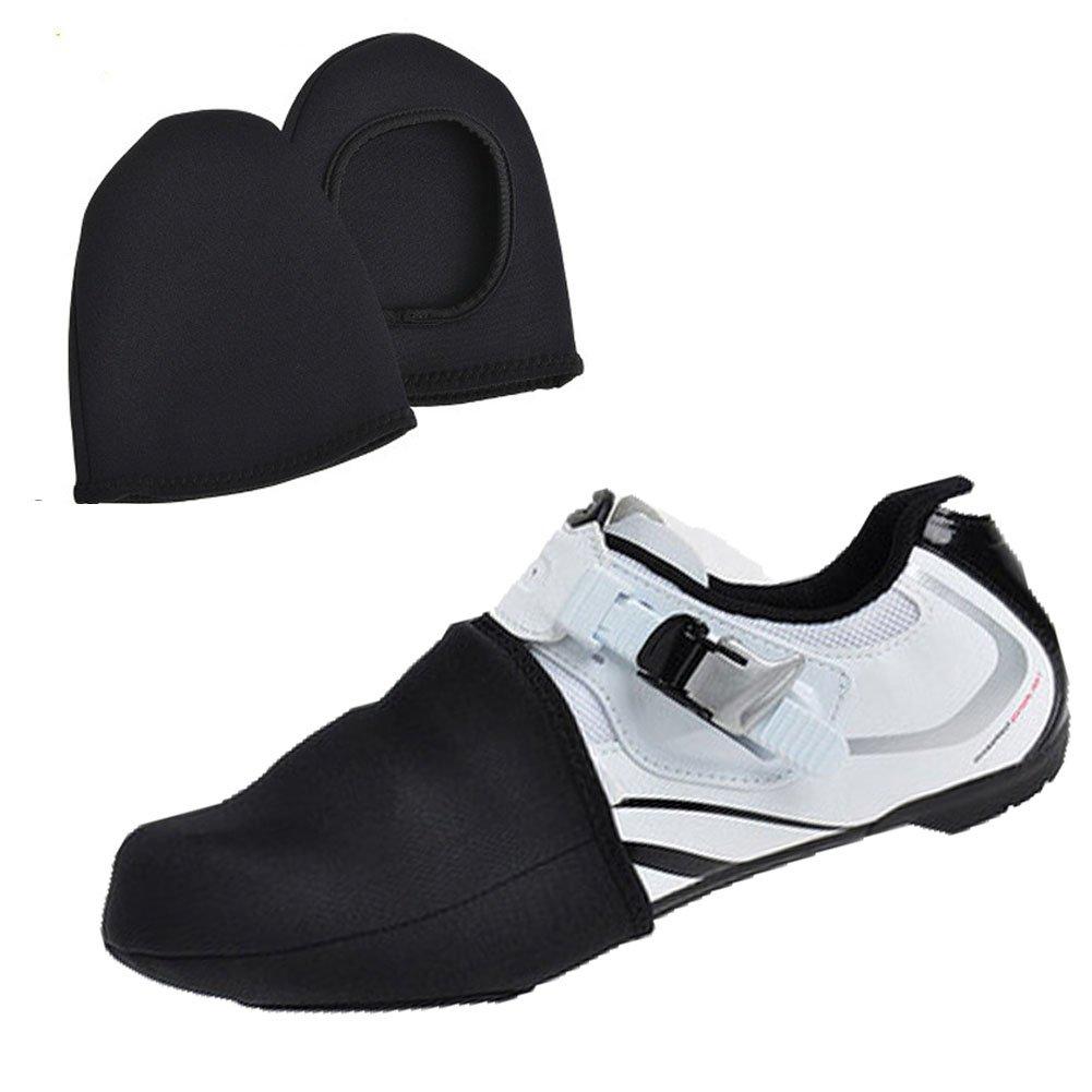 Ocamo Housse de Chaussures de Cyclisme, Vélo à Chaussures Orteil Couvertures Demi Palm Chaussures Coque Coupe-Vent antidérapant Respirant Chaussures Manches Vélo équipement