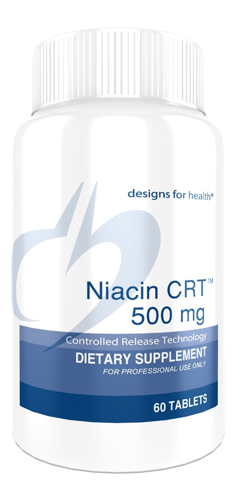 Designs for Health 500mg Niacin Flush-Free - Niacin CRT, Slow Timed Release Tablets (60 Tablets) by designs for health
