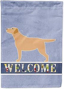 Caroline's Treasures BB5501GF Yellow Labrador Retriever Welcome Flag Garden Size, Small, Multicolor