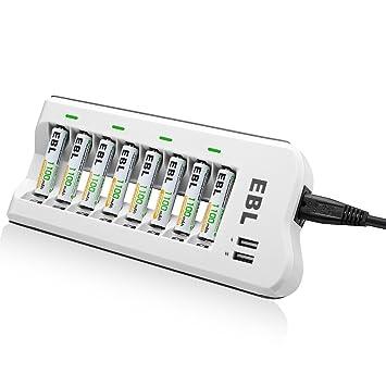 ed8f55c50e29ed EBL Upgraded 808U AA AAA Battery Charger with 2 USB: Amazon.co.uk:  Electronics