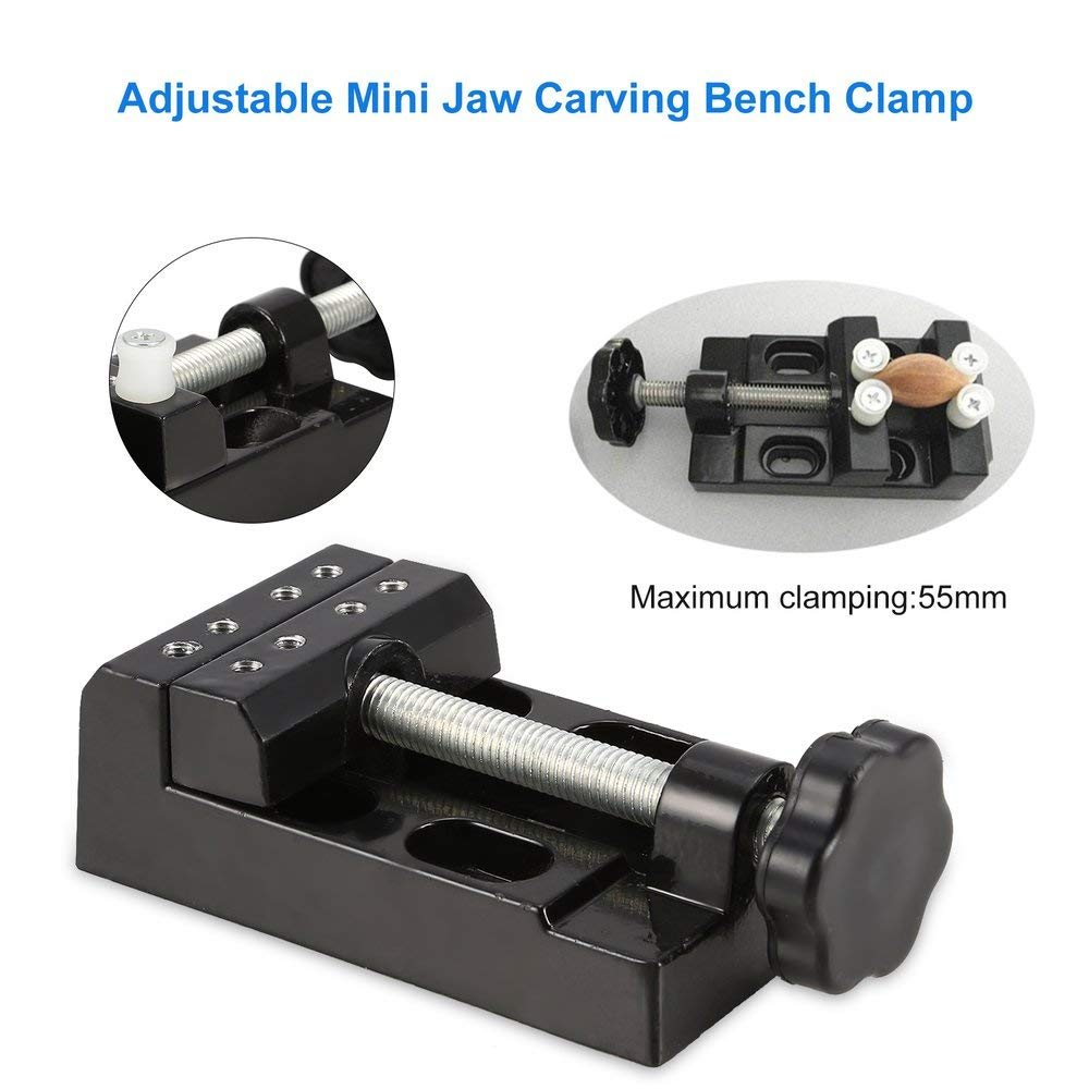 DGdolph Carving Bench Clamp Drill Press Mayitr Flat Vice Opening Parallel Table Vise Black
