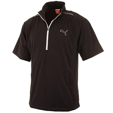 ad3d32a9ac79 Puma Golf Mens Half Zip Short Sleeve Storm Jacket - Black - S ...