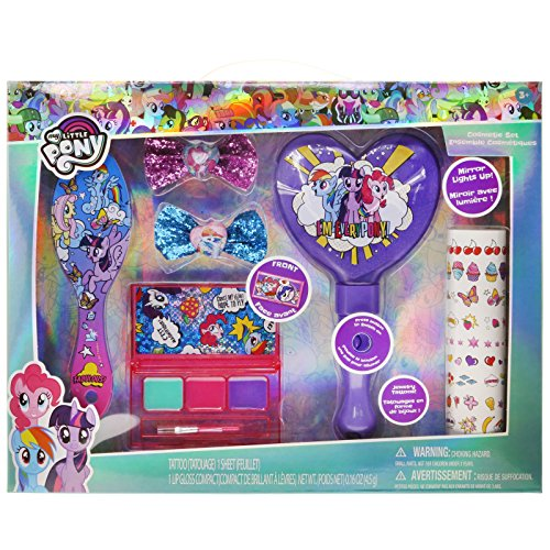 TownleyGirl My Little Pony Hair and Makeup Set, with Bonus Light Up Mirror -
