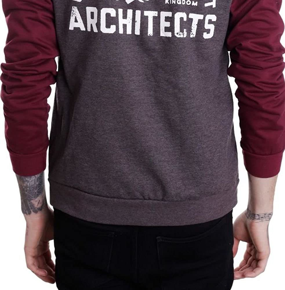 Architects - Outcast and Reject Charcoal//Burgundy - Zipper-X-Small Outerwear
