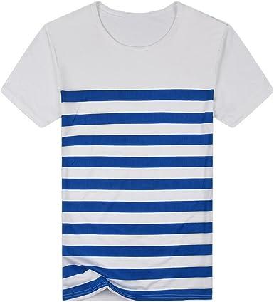 Camisas Rayas Hombre AIMEE7 Camisas De Hombre Manga Corta Camisas De Verano Hombre Camisetas Hombre Manga Corta Camisetas Casual Hombre Camisetas Hombre Manga Corta Basica: Amazon.es: Ropa y accesorios