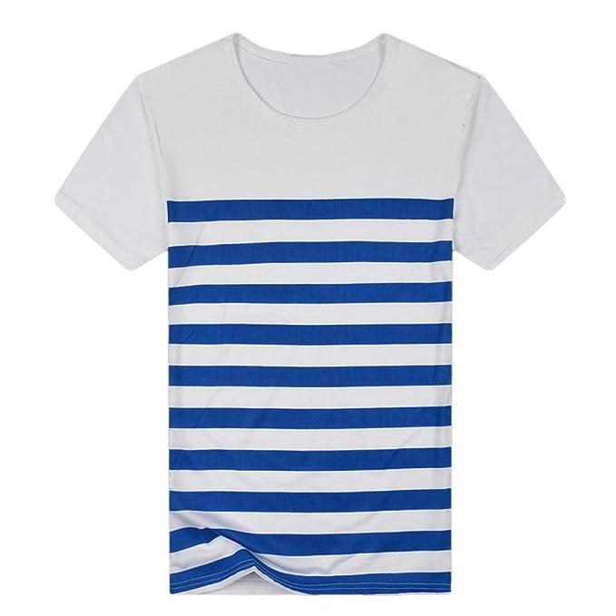 2f2423b3f0ba6 Camisas Rayas Hombre AIMEE7 Camisas De Hombre Manga Corta Camisas De Verano Hombre  Camisetas Hombre Manga Corta Camisetas Casual Hombre Camisetas Hombre ...
