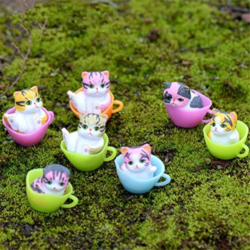 Neko - 1pcs Garden Bonsai Decoration Miniatures Cartoon Lucky Cats Micro Landscape Kitten Microlandschaft - Figurines People Miniatures Figurines Miniatures Resin Artificial Bonsai Ceram