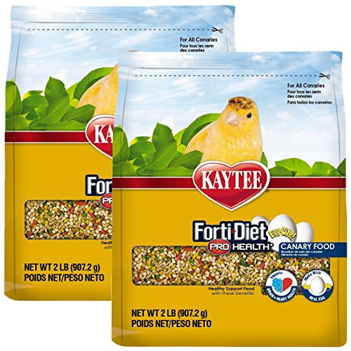 - Kaytee Forti Diet Egg-Cite Bird Food for Canaries, 2-Pound Bag