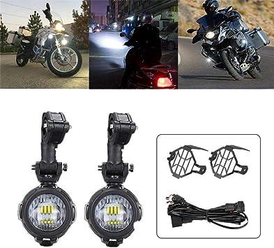 Happt Motorrad Nebelscheinwerfer Zusatzscheinwerfer Motorrad LED Zusatzscheinwerfer Set F/ür R1200GS F800GS