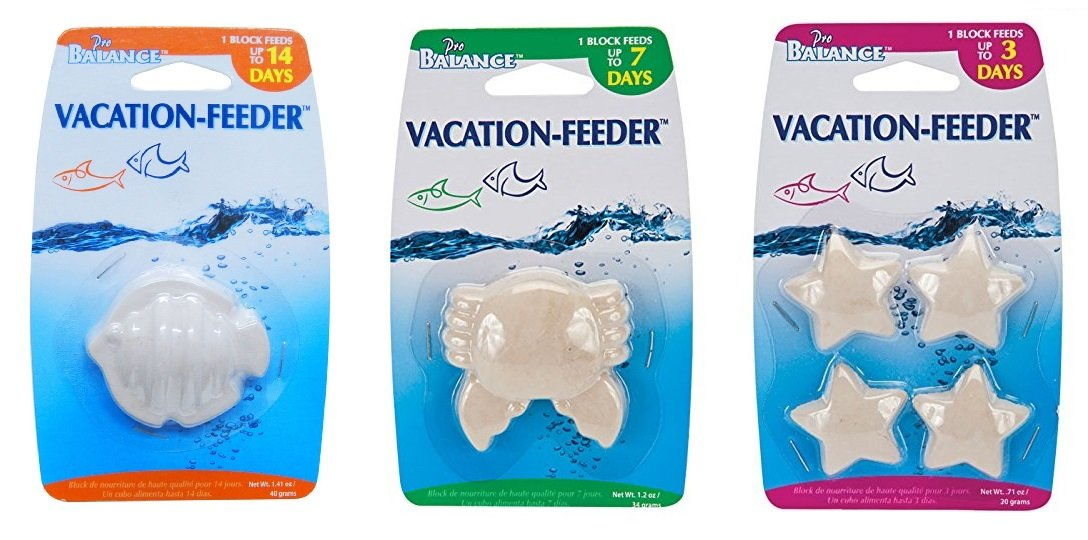 Our 3 Day, 7 Day & 14 Day Vacation Feeder Block Combo Bundle Set Feeds Your Pet Fish While You Are Away!!