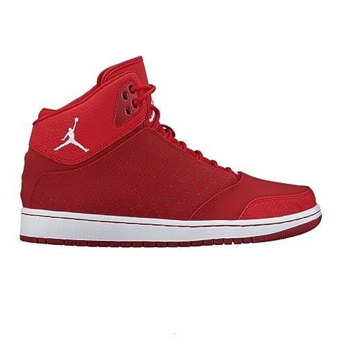 Da Uomo Nike Jordan 1 Flight 5 Prem Scarpe da ginnastica Rosso 881434 600