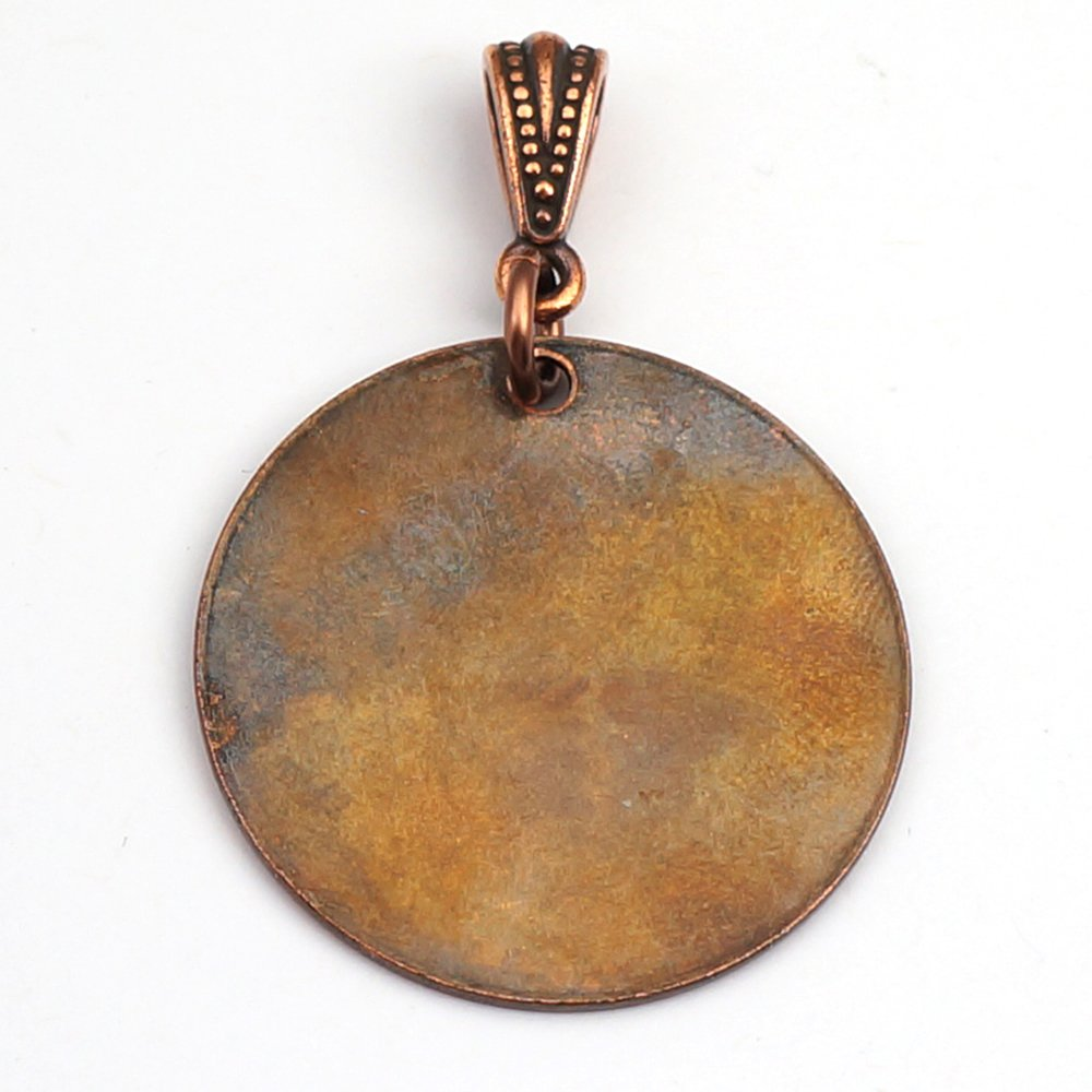 amazon com: etched copper planetary diagram astronomy pendant, round flat  cosmos planet and moons etching, optional necklace, 28mm: handmade