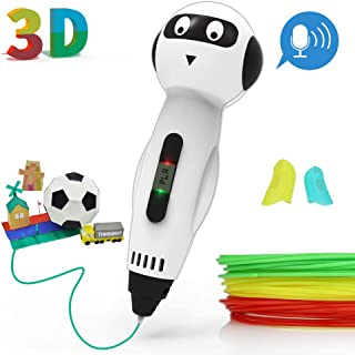 JAMIEWIN 3D Pen for Kids Funny Voice Speaking - 3D Doodler Printing Pens PLA Filament Adult Printer Drawing Creative Pen