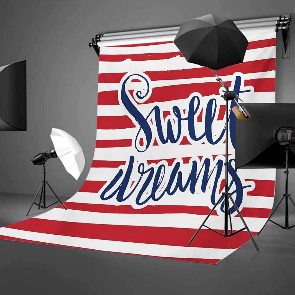 Sweet Dreams 10x12 FT Backdrop Photographers,Vintage Striped Background with Positive Message Nautical Design Background for Baby Birthday Party Wedding Vinyl Studio Props Photography