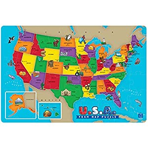 Amazon 54 piece usa foam map puzzle toys games 54 piece usa foam map puzzle sciox Image collections