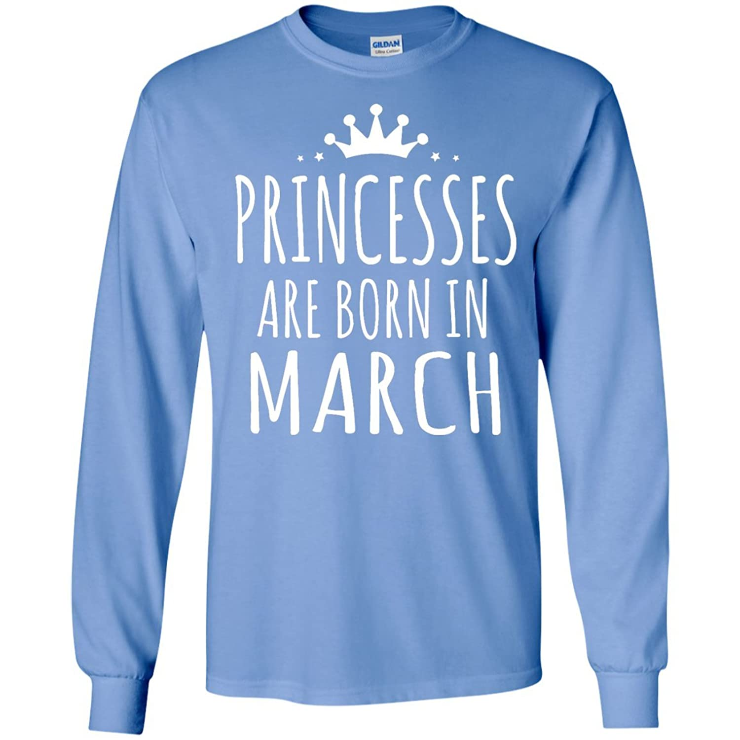 Princesses are born in March Men size Long sleeves