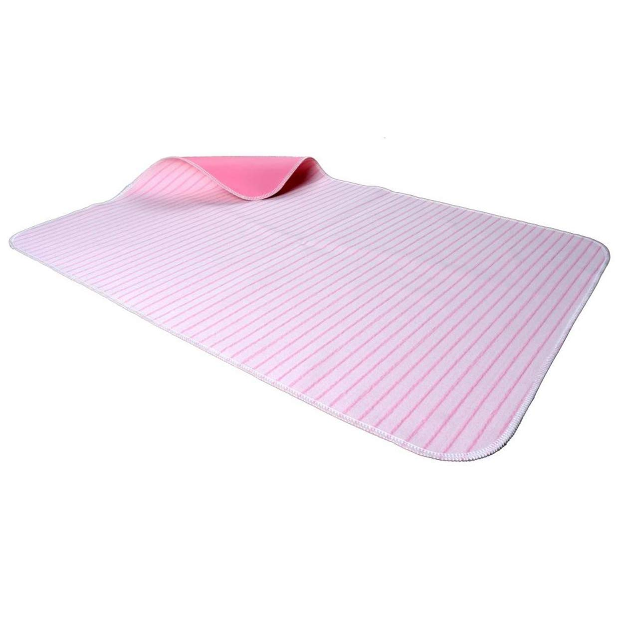 Ggsrtesxs Bed Pad Adult Incontinence Baby Patient Women Absorbent Quality Plus Cotton Anti-Scratch Quilted Waterproof Reusable Washable Pink,95x120cm by Ggsrtesxs