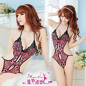 98a507138ac Amazon.com  LoveDesign Sexy open crotch Leopard Teddy