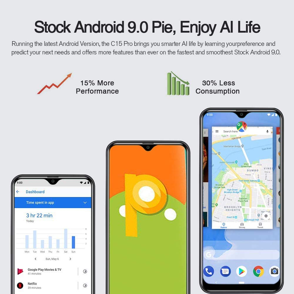 Teléfono Moviles (2020), OUKITEL C15 Pro Smartphone Libres, Pantalla Completa de 6.088