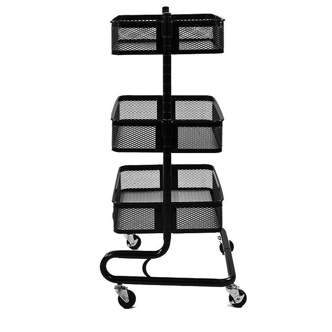 bremermann® Carro utilitario ajustable con 3 cestas (negro): Amazon.es: Hogar