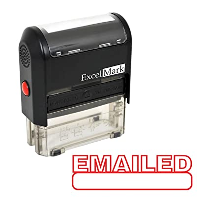 EMAILED Self Inking Rubber Stamp