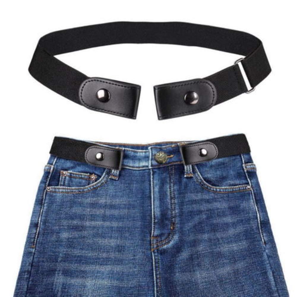 Luoluoluo Cintura da Uomo Donna Senza Fibbia Comoda Cintura da Jeans a Vita Alta Cintura Invisibile Regolabile, Cintura Elastica Invisibile per Uomo Donna, Senza Fibbia Senza Fibbia (Navy)